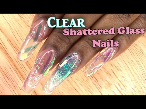Extreme Shatter Glass Nails | Full set Acrylic Nails with Tips | LongHairPrettyNails