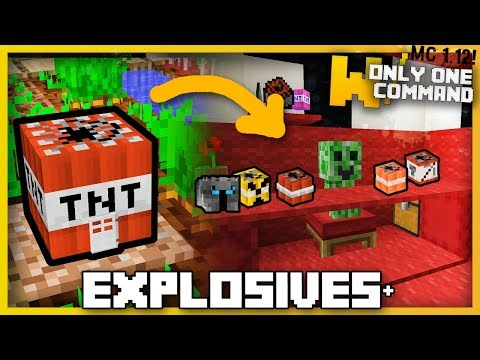 Minecraft - PopularMMOs Explosives+ with Only Two Commands (Explosive stuff, Unlucky Blocks & more!)