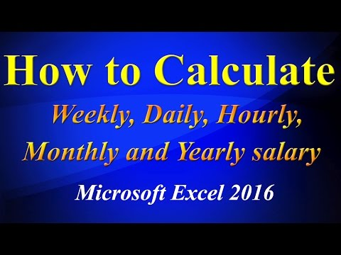 Calculating daily weekly hourly yearly  salary in excel sheet