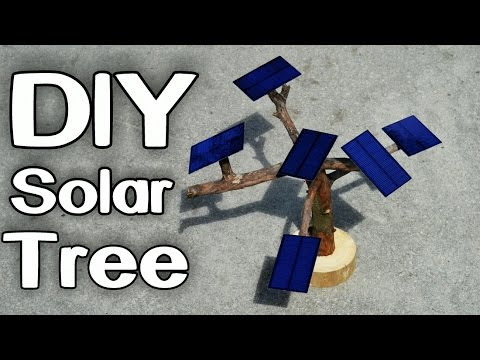 Amazing DIY Solar Tree Charger!