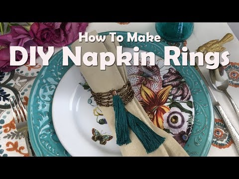 Beaded Napkin Rings: How To Make DIY Napkin Rings