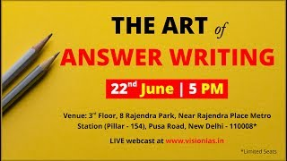 The Art of Answer Writing Session