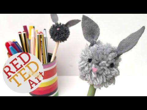Pom Pom Bunny Pencil Topper