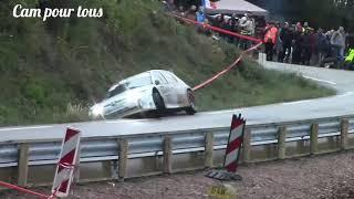 Rally des Cévennes 2018. Montdardier. Slide de Brunet.  Spectacle.