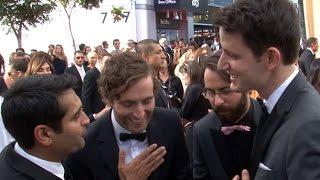 Silicon Valleys Kumail Nanjiani Thomas Middleditch Martin Starr Zach Woods At The Emmys