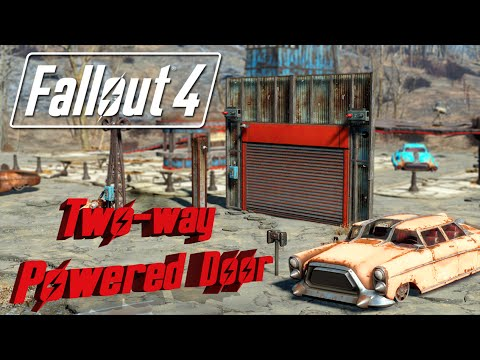 FALLOUT 4 Logic Gate Tutorial - How to make a 2-way door with an emergency lockdown