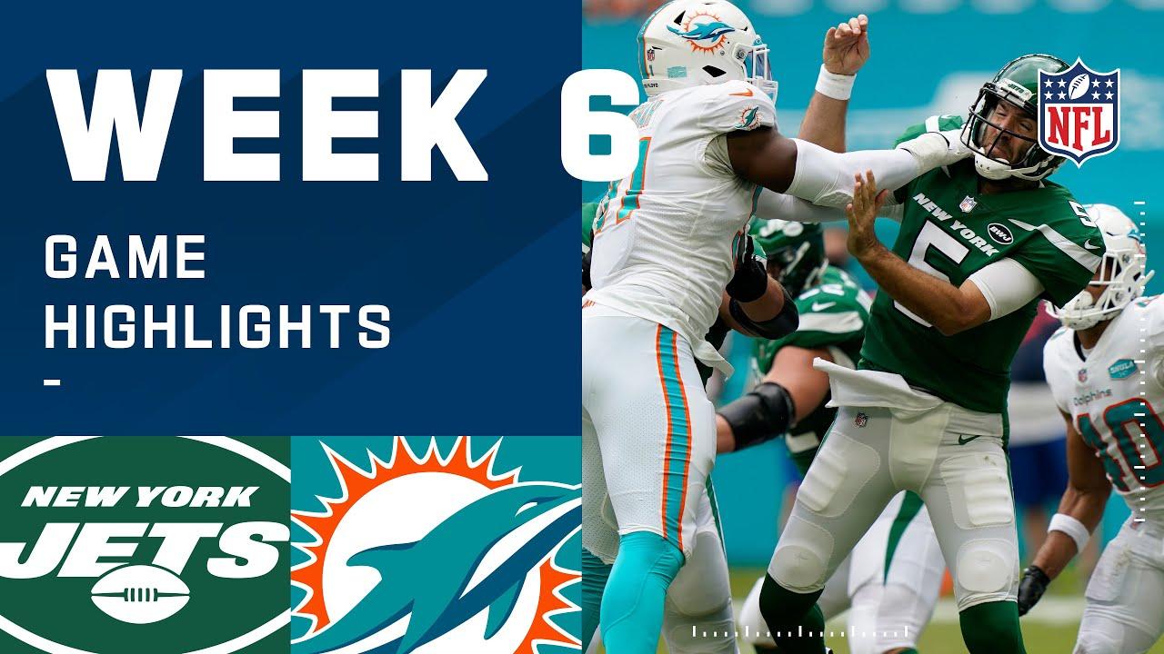 Jets vs. Dolphins Week 6 Highlights | NFL 2020