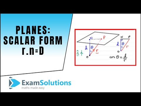 Planes - Scalar Product Form r.n=D : ExamSolutions Maths Revision