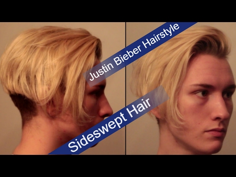 Justin Bieber Hairstyle Tutorial | Mens Side Swept Hairstyle