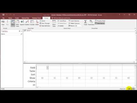 SQL with Microsoft Access 2016 lesson 1 - Create table