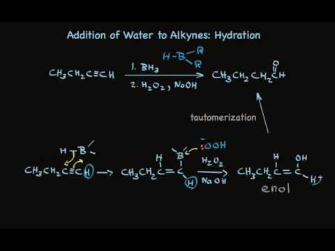Hydration of Alkynes to Make Aldehydes and Ketones