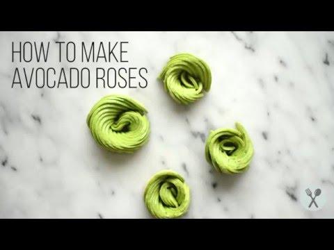 How to Make Avocado Roses
