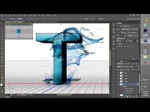 Photoshop element text |Water| Tutorial  EASY