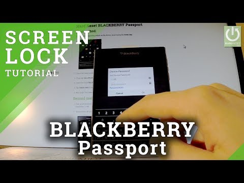How to Set Password in BLACKBERRY Passport - Screen Lock in BLACKBERRY