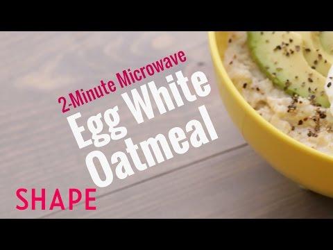 2-Minute Microwave Egg White Oatmeal | Shape