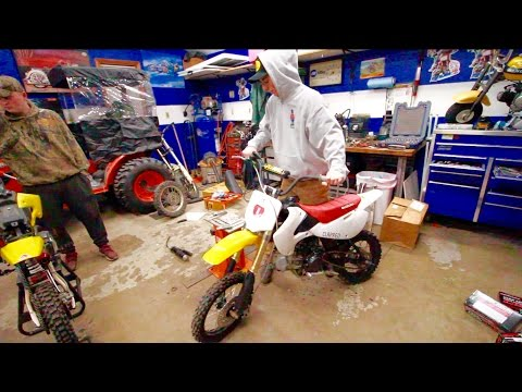 KLX110 PIT BIKE BUILD - SUSPENSION | PT.1