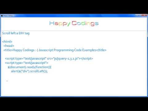 JavaScript | Scroll left a DIV tag