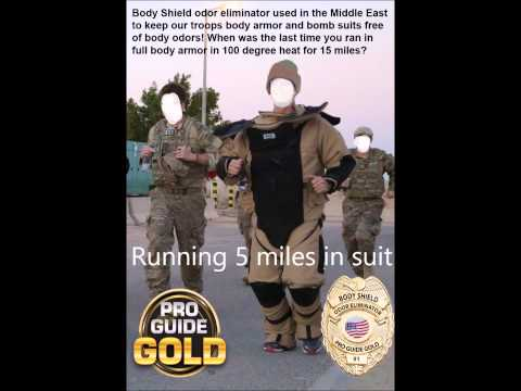Odor Eliminator Pro Guide Gold Hunting, pet, auto, athletic, body armor