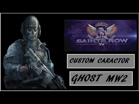 Saints Row 4 Custom Character play as ( GHOST) from mw2