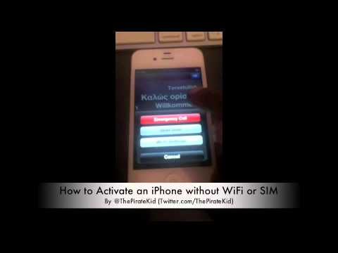 iPhone Activation Bug [No WiFi or SIM]