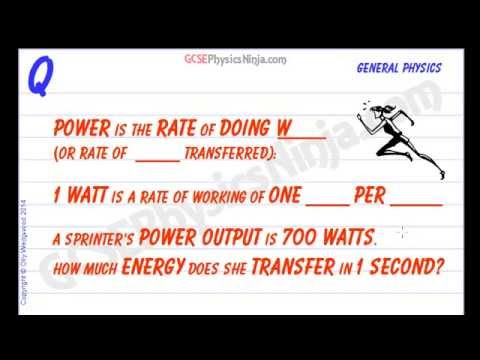 Work Done and Power - GCSE Physics