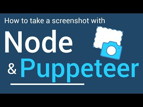 How to take a Screenshot with Node and Puppeteer