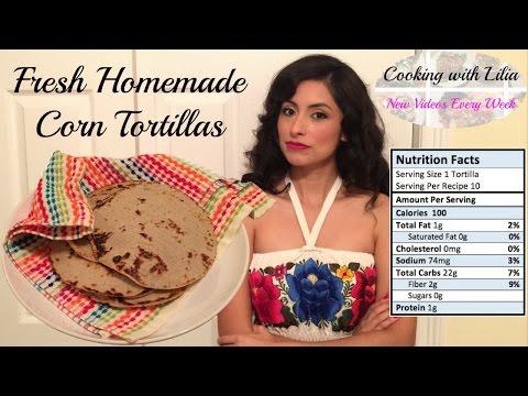 How to make Corn Tortillas - Corn Tortilla Recipe - Fresh Homemade Corn Tortilla from Scratch