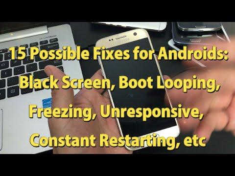 ANDROID PHONES: BLACK SCREEN, KEEPS RESTARTING, BOOT LOOP, FROZEN, UNRESPONSIVE: 15 Solutions!!!!!!