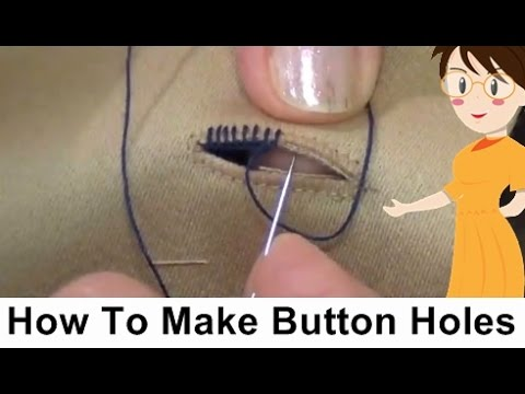 How To Make Button Holes - Tailoring With Usha