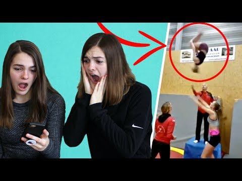 REACTING TO YOUR CHEER AND GYMNASTICS FAILS PART 3