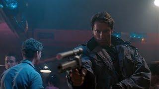 Kyle Reese vs T-800 (Tech-noir)   The Terminator [Open Matte, Remastered]