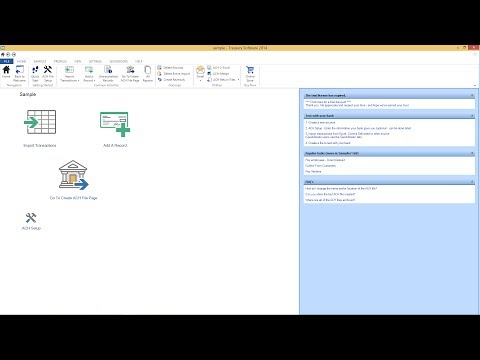 Treasury Software's ACH Universal One Minute Video