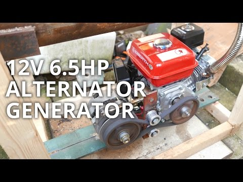 DIY 6.5hp 12v Honda clone Alternator Generator power station