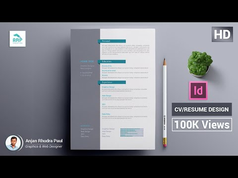 ✪ How to Create a CV/RESUME template in Indesign : Indesign Tutorial ✪