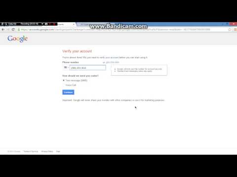 How To Verify Gmail & Youtube Account Without Using your Cell Phone 2013