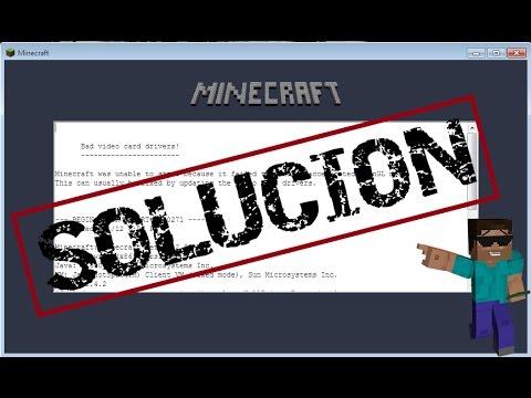 Solucion de Minecraft ''Bad video Cards drivers'' (Windows 10/8/7)