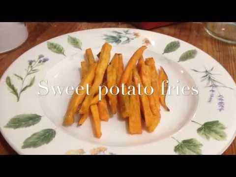 Crispy deep fried sweet potato fries