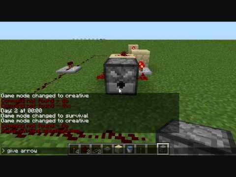 Minecraft - How to make a pressure plate activated automatic dispenser