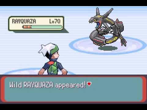 Pokemon Emerald - Shiny Rayquaza Capture