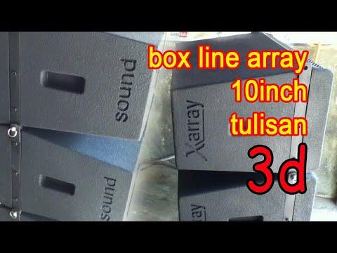 buat tex 3d di box line array