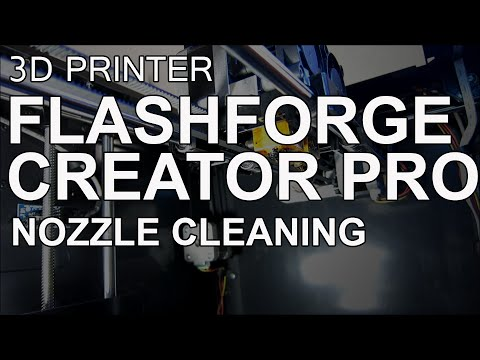 Flashforge Creator Pro ABS Nozzle Cleaning