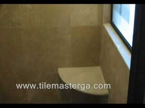 How to - Built in Shower corner seat - bench installation bathroom  tile