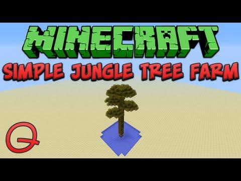 Minecraft: Simple Jungle Tree Farm (Quick) Tutorial