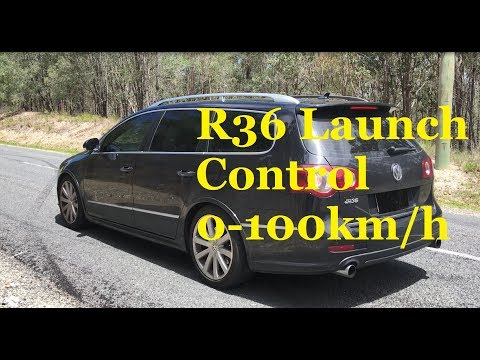 Volkswagen R36 0-100km/h Launch Control Acceleration