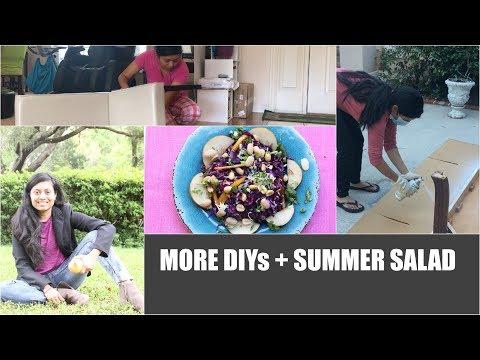 MORE DIYs + SUMMER SALAD Red Purple Cabbage Salad Video Recipe | Bhavna's Kitchen