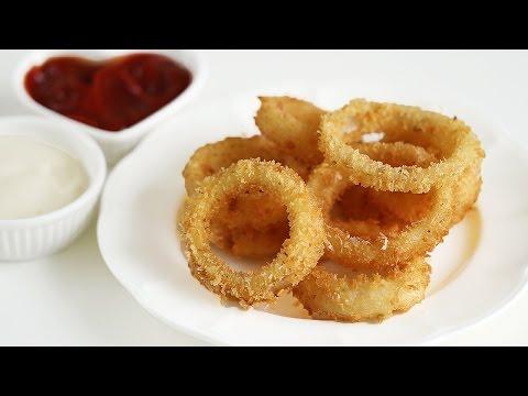 How to Make Crispy Onion Rings 어니언링 만들기 양파링 - 한글 자막
