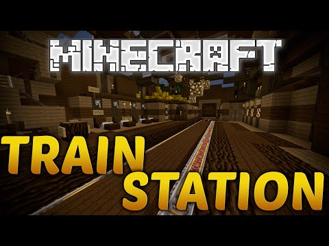 Minecraft Working Train Station With Minecart Chest