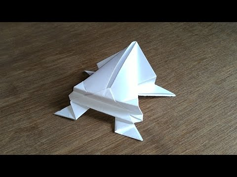 How to make a high jumping Paper Frog
