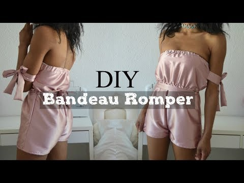 DIY | How To Make A Bandeau Bow Tie Romper/Playsuit