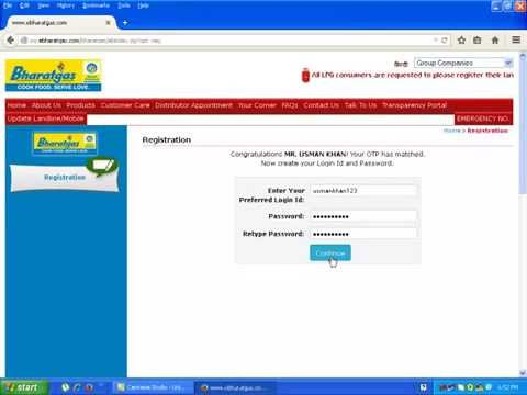 How to Book Online Bharat Gas by www.examresultinfo.com